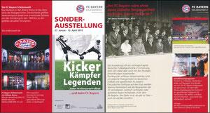 Bayern Erlebniswelt, 2015, 'Kicker, Kämpfer, Legenden', Flyer