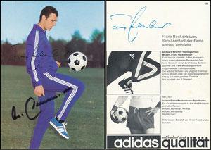 Beckenbauer, 1968, Adidas 'Weltberühmt durch Qualität', Motiv 4a, rücks. Druck-AG