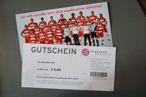 FanShop, Geburtstagsgutschein 2007