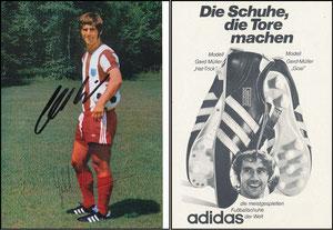 Müller, Gerd, 1973, Adidas 'Schuhe die Tore machen'
