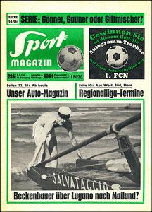 Beckenbauer, 1968, Kicker-Sportmagazin, 'Riccione', Titelseite