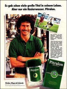 Breitner, 1982, Pitralon, Zeitungsanzeige