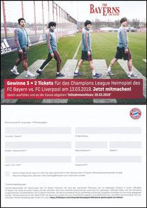 FanShop, 2019, Gewinnspiel 'CL Bayern-Liverpool'