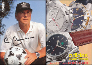 Beckenbauer, 2002, Adidas Sports Watch, langes Emblem, Rückseite Werbung