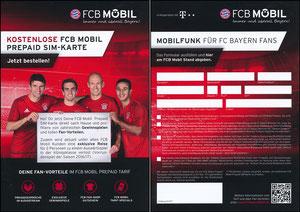Bayern München, 2016, FCB Mobil, PrePaid-Karte, 'Gewinn Auswärtsspiel CL'