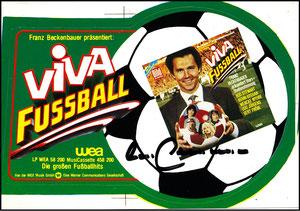 Beckenbauer, 1980, LP 'Viva Fußball', Aufkleber