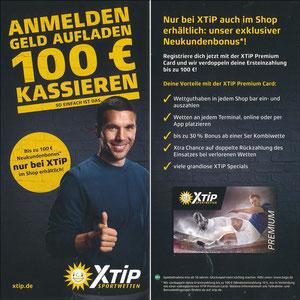 Podolski, 2018, XTip 'Anmelden - Geld aufladen - 100€ kassieren', Variante 1