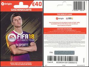 Müller, Thomas, 2017, 'Fifa 18' Gutschein