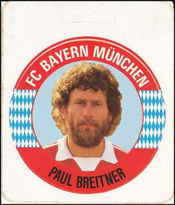 Breitner, 1980er Jahre, Aufkleber Bayern