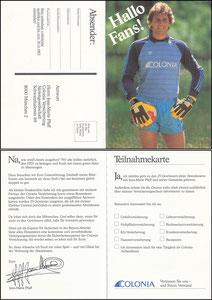 Pfaff, 1983, Colonia,Klappkarte