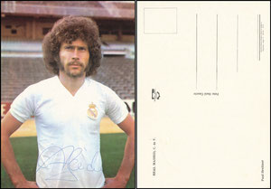 Breitner, 1976, Real Madrid, Satzkarte, stehend
