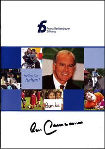 Beckenbauer, 2000er, Stiftung, Broschüre A5