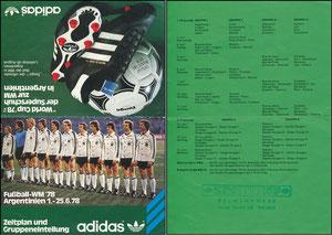 DFB, 1978, Adidas-Klappkarte