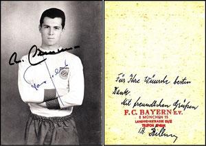 Beckenbauer, 1967, Bayern-Autogrammkarte, Dank an SF Sven