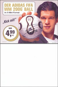 Ballack, 2006, McDonalds 'Adidas Fifa WM Ball'