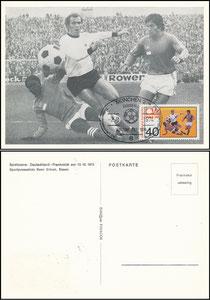 Hoeness, 1974, WM Maximumkarte