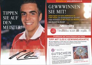 Lahm, 2007, Adelholzener, Gewinnspiel 'FanShop'