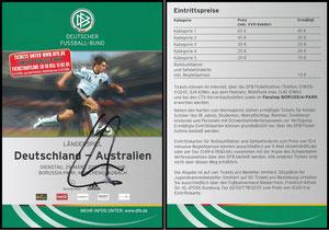 DFB, 2011, Ankündigungskarte 'Deutschland - Australien'