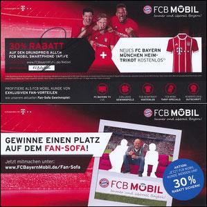 FCB Mobil, 2017, Gutschein 'FCB-Aktion, Heimtrikot', signiert Lewandowski im März 2019