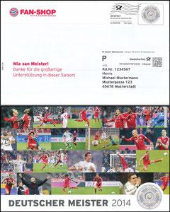 FanShop, 2014, Dialogpost 'Deutscher Meister 2014', 06'2014