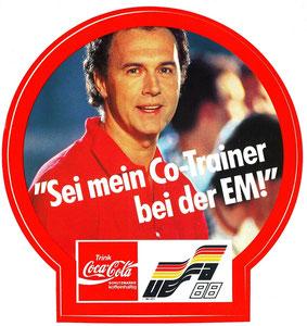 Beckenbauer, 1988, CocaCola EM 1988, Aufkleber