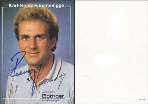 Rummenigge, 1981, Gothaer, Rückseite blanko, mit Druck-AG