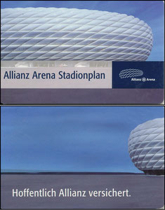 Allianz Arena, 2018, Stadionplan, Faltflyer