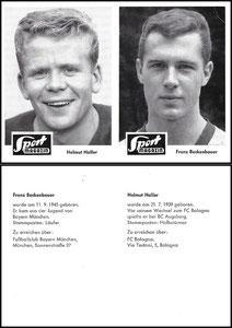 Gemeinschaftskarte 1965, Sportbild, Haller - Beckenbauer, Dank an SF Heiko