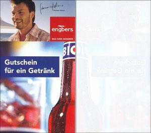 Helmer, 2004, Engbers 'Gutschein für ein Getränk', Kleinkarte 'Bionade'