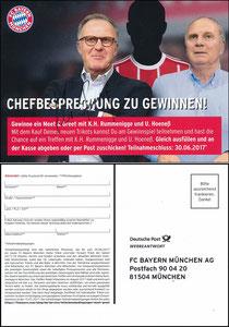 FanShop, 2017, Rummenigge- Hoeneß 'Chefbesprechung', sign. K-H Rummenigge am 15.10.2019