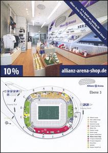 Allianz Arena, 2017, Shop-Postkarte