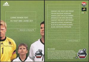 Gemeinschaftskarte, 2001, Kahn, Ballack - Be a Champ 2006