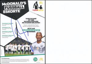 Boateng, 2018, McDonalds 'Fußball-Eskorte', A5, signiert im April 2019
