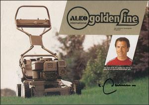 Beckenbauer, 1983, Al-Ko Rasenmäher, A4, Motiv 1