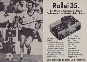 Beckenbauer, 1971, Rollei 35, Dank an SF Norbert