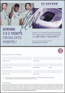 FanShop, 2018, Gewinnspiel 'Away-Trikot', signiert Hummels im Febr. 2019