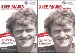 Bayern Erlebniswelt, 2014, 'Sepp Maier - Torwart, Tüftler, Tausendsassa', VErlängerungsflyer