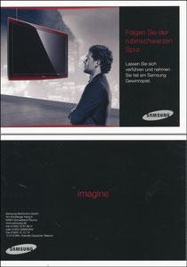 Ballack, 2008, Samsung TV 'Rubinschwarze Spur', Klappkarte