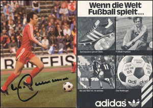 Beckenbauer, 1976, Adidas, 'Wenn die Welt Fußball spielt'