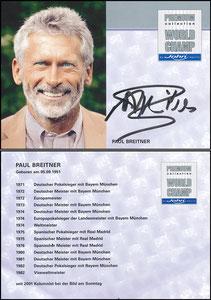 Breitner, 2013, John-Sport, rückseitig 'seit 2001 Kolumnist bei der Bild am Sonntag'