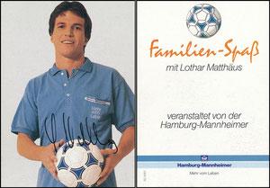 Matthäus, 1988, Hamburg-Mannheimer, Rückseite 'Familien-Spaß'