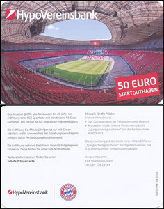 HypoVereinsbank, 2018, '50 EUR Startguthaben'