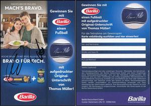 Müller, Thomas, 2016, Barilla, signiert Lisa und Thomas Müller