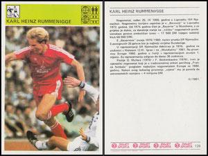 Rummenigge, 1981, Svijet Sporta Card