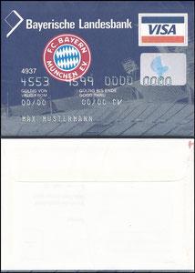 Bayerische Landesbank, 1999, Visa, Werbeumschlag, gab es nur in einer Ausgabe des Bayern Magazins