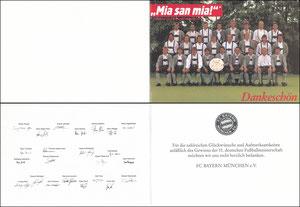 Mannschaftskarte 1989, 'Mia san mia', (Meisterschaft 1989)