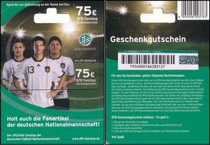 DFB, 2010, 'DFB-Geschenkgutschein 75 EUR'