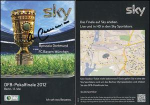Sky, 2012, DFB-Pokalfinale, signiert Beckenbauer