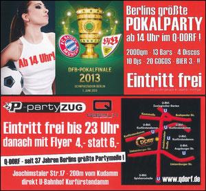 Postkarte, 2013, Pokalfinale 'Pokalparty'