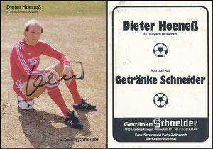 Hoeness, Dieter, 1982, Getränke Schneider